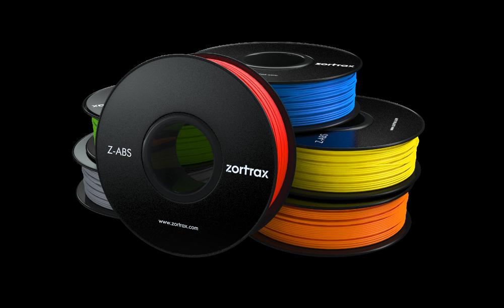 Kvalita výtlačkov je zaručená s materiálmi Z-ABS v 11 krásnych farbách.