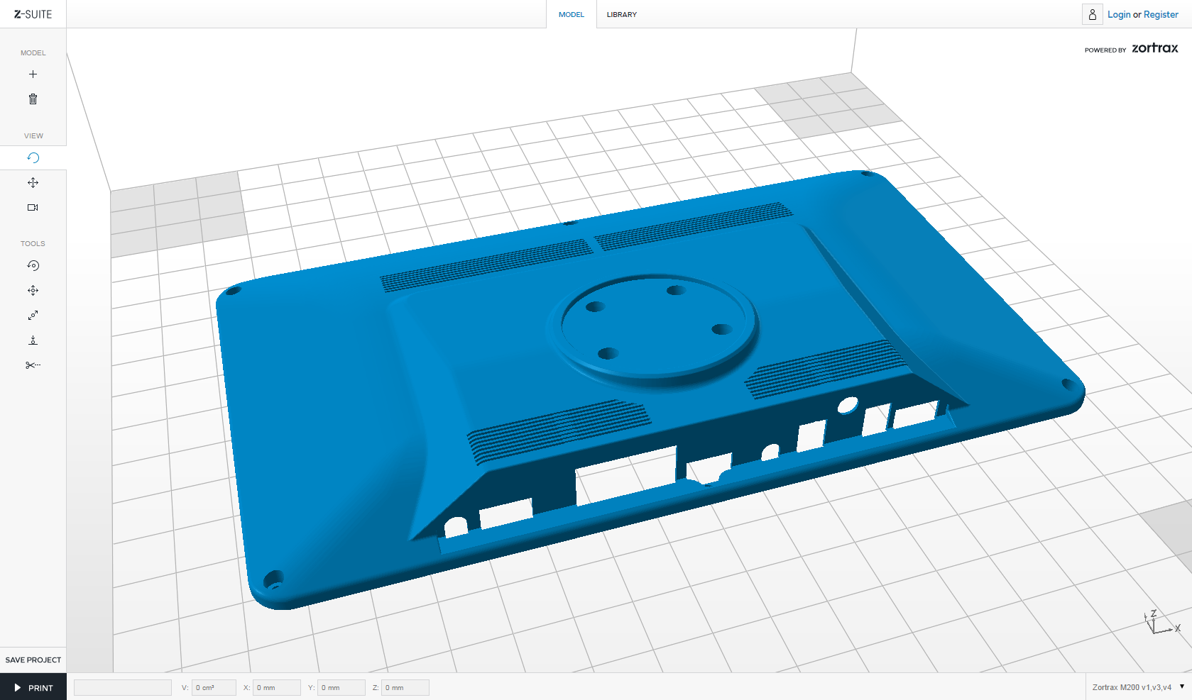 Orientácia modelu počas trojrozmernej tlače na 3D tlačiarni.
